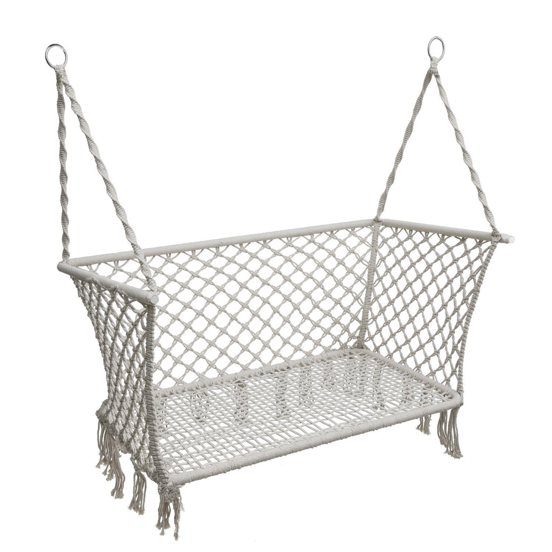 fauteuil de jardin suspendu plumaya 2 places macram. Black Bedroom Furniture Sets. Home Design Ideas