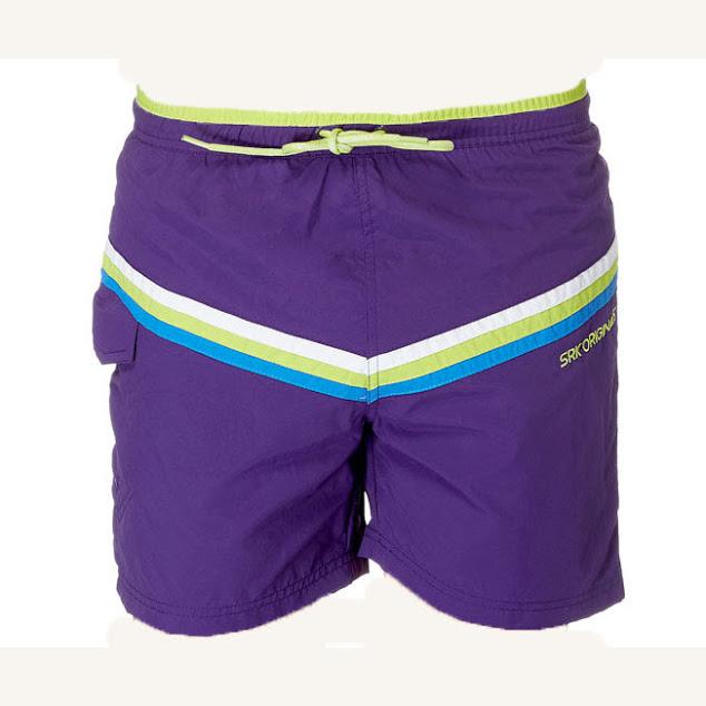 SRK-Bermuda de bain  CANDE- violet