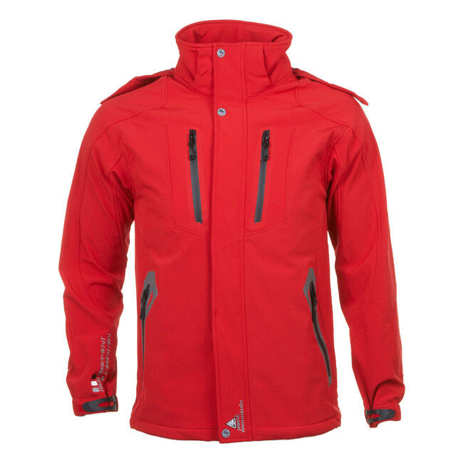 Peak Mountain   Blouson softshell homme CILO   rouge