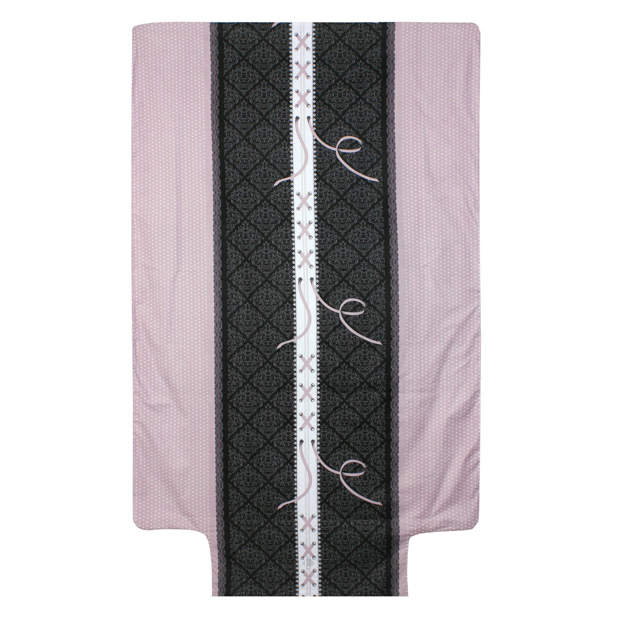 housse de couette 140x200 cm 100 coton glamour rose linnea. Black Bedroom Furniture Sets. Home Design Ideas