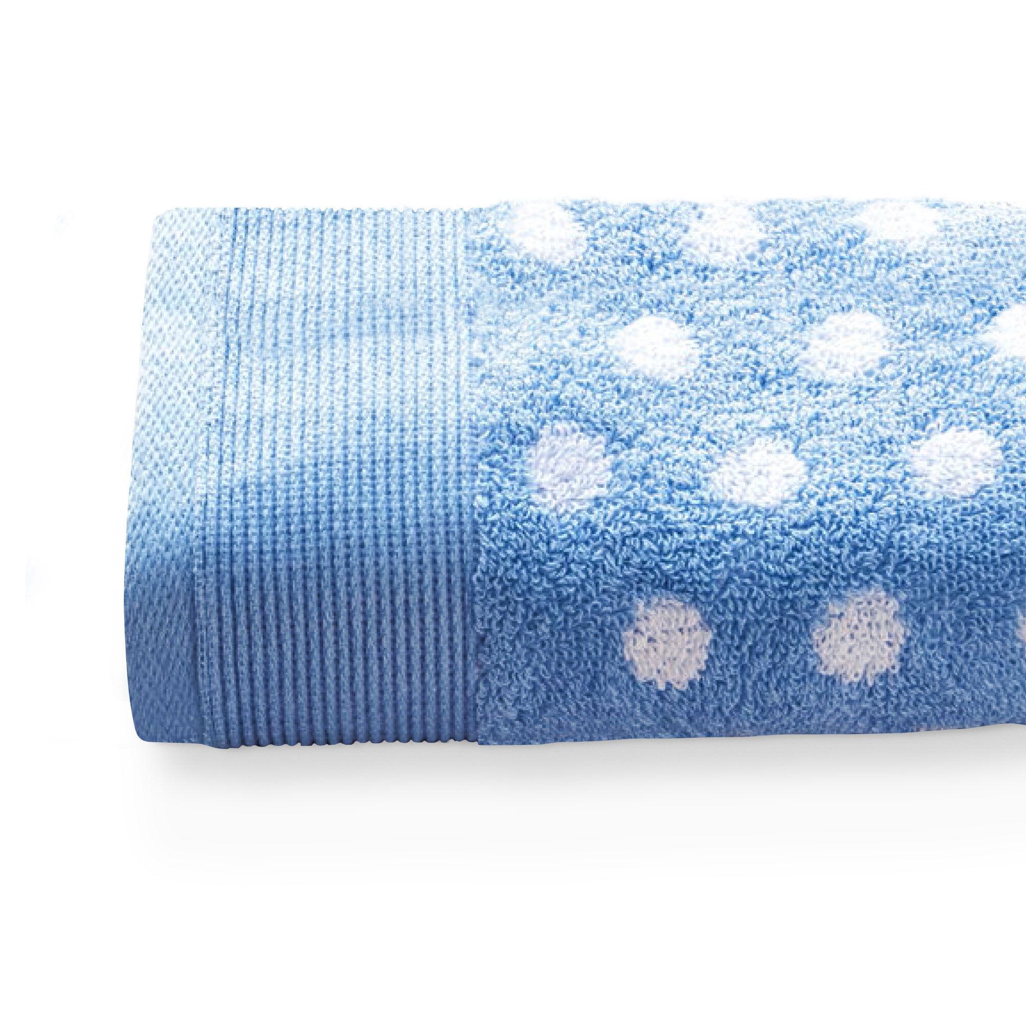 serviette de toilette 50x100 cm domino bleu 550 g m2 linnea. Black Bedroom Furniture Sets. Home Design Ideas