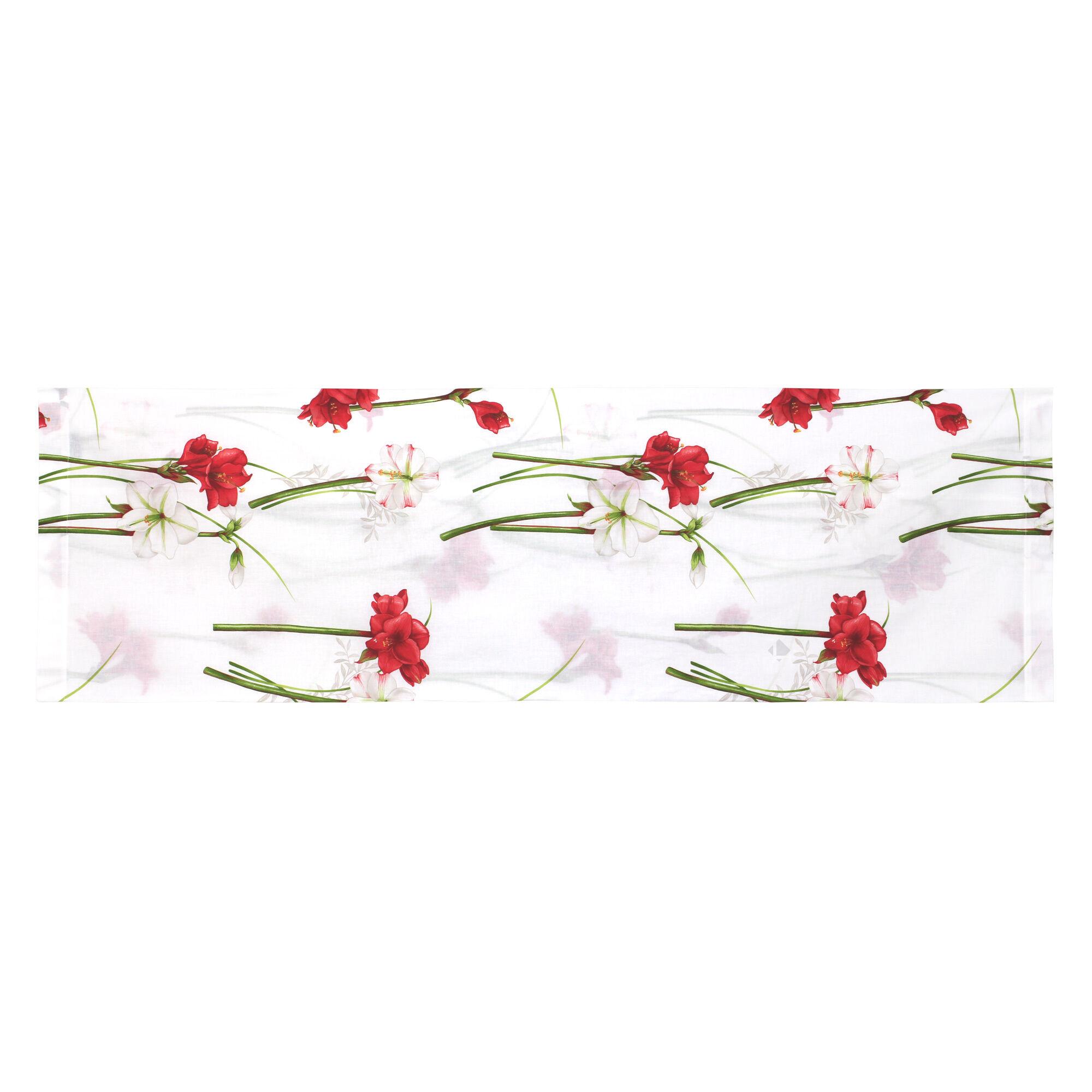 taie de traversin 140x43 cm 100 coton amaryllis blanc linnea. Black Bedroom Furniture Sets. Home Design Ideas