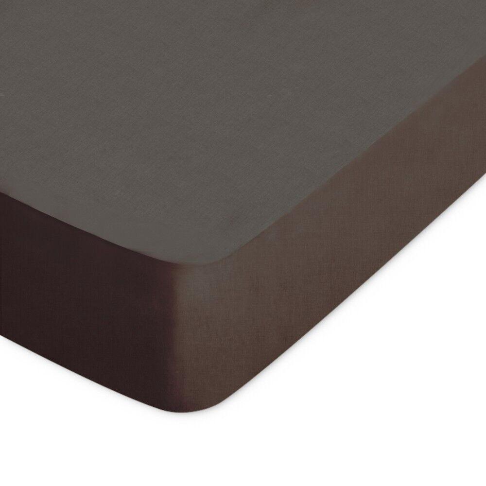 Drap housse uni 120x200 cm 100 coton alto manganese linnea for Drap housse 120x200