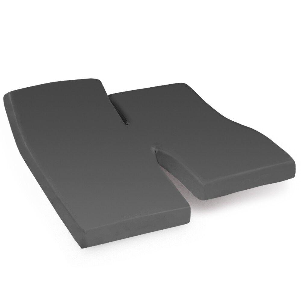 drap housse relaxation uni 2x90x200 cm 100 coton alto manhattan tpr t te et pied relevable linnea. Black Bedroom Furniture Sets. Home Design Ideas