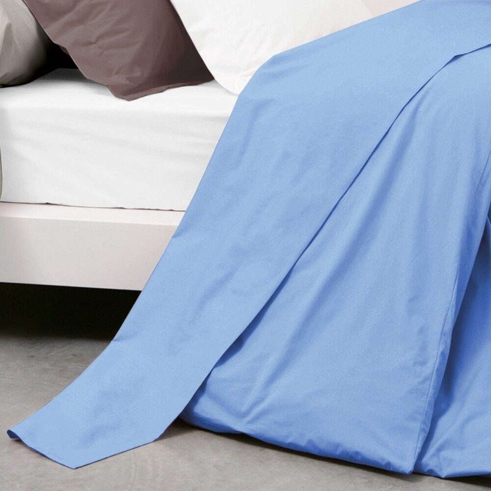drap plat uni 180x290 cm 100 coton alto belle ile linnea. Black Bedroom Furniture Sets. Home Design Ideas