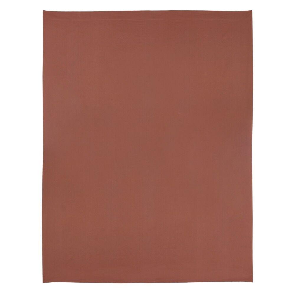 drap plat 270x310 cm uni satin de coton opera marron fonc linnea. Black Bedroom Furniture Sets. Home Design Ideas