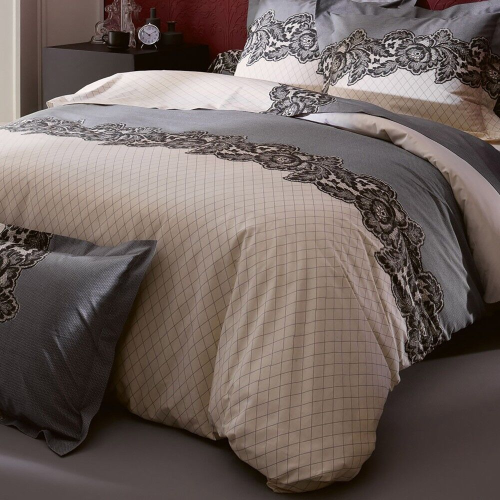 housse de couette 280x240 cm 100 coton malice linnea. Black Bedroom Furniture Sets. Home Design Ideas