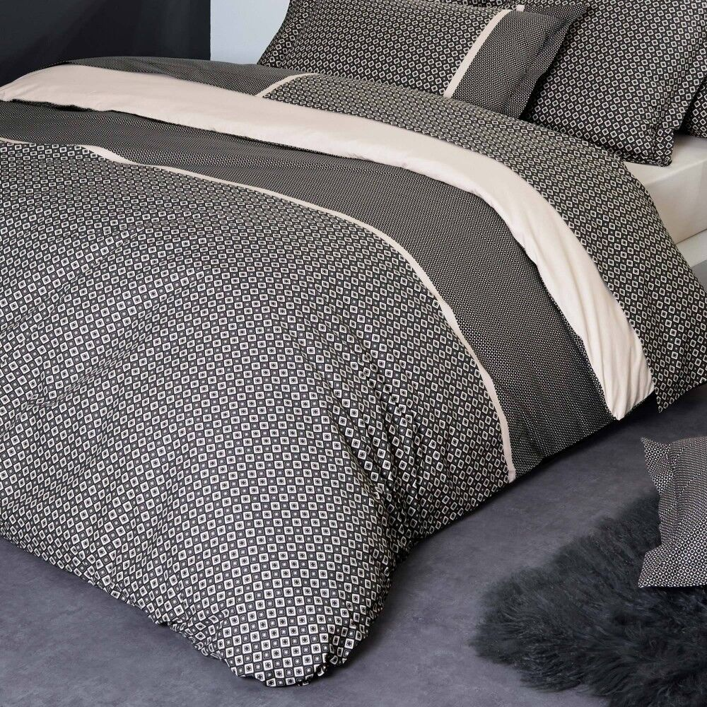 housse de couette 300x240 cm percale pur coton gatsby linnea. Black Bedroom Furniture Sets. Home Design Ideas
