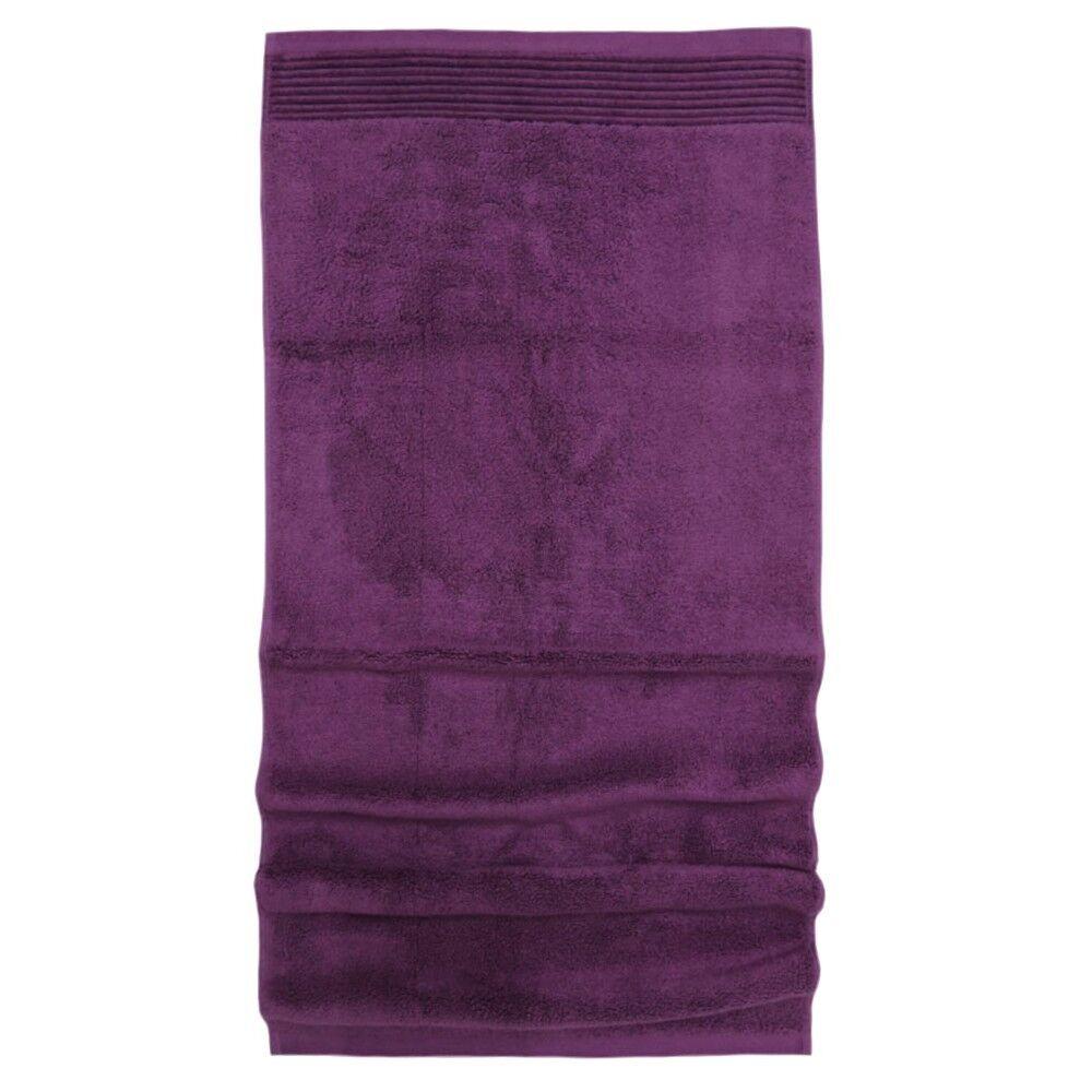 serviette de toilette 50x100 cm juliet prune 520 g m2 linnea. Black Bedroom Furniture Sets. Home Design Ideas