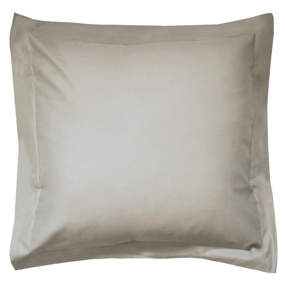 taie d 39 oreiller uni 80x80 cm 100 coton alto chamois linnea. Black Bedroom Furniture Sets. Home Design Ideas