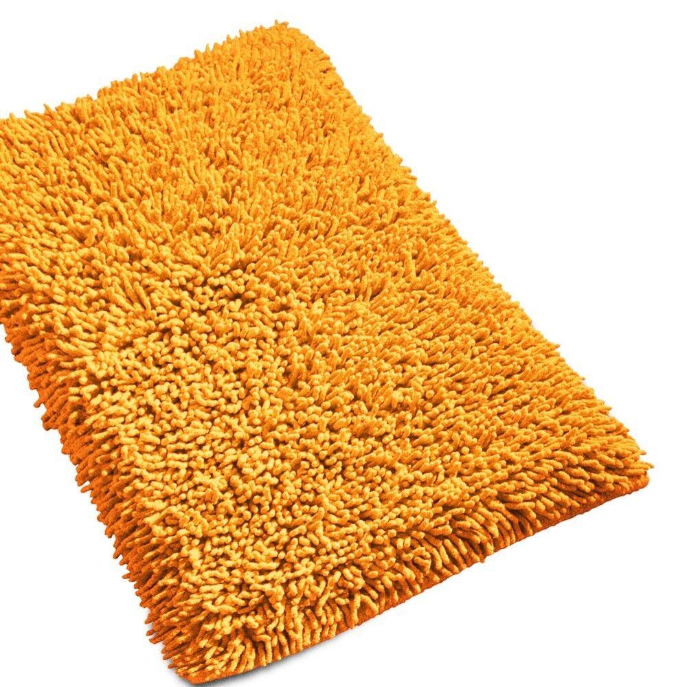 tapis de bain 50x80 cm chenille jaune 1800 g m2 linnea. Black Bedroom Furniture Sets. Home Design Ideas