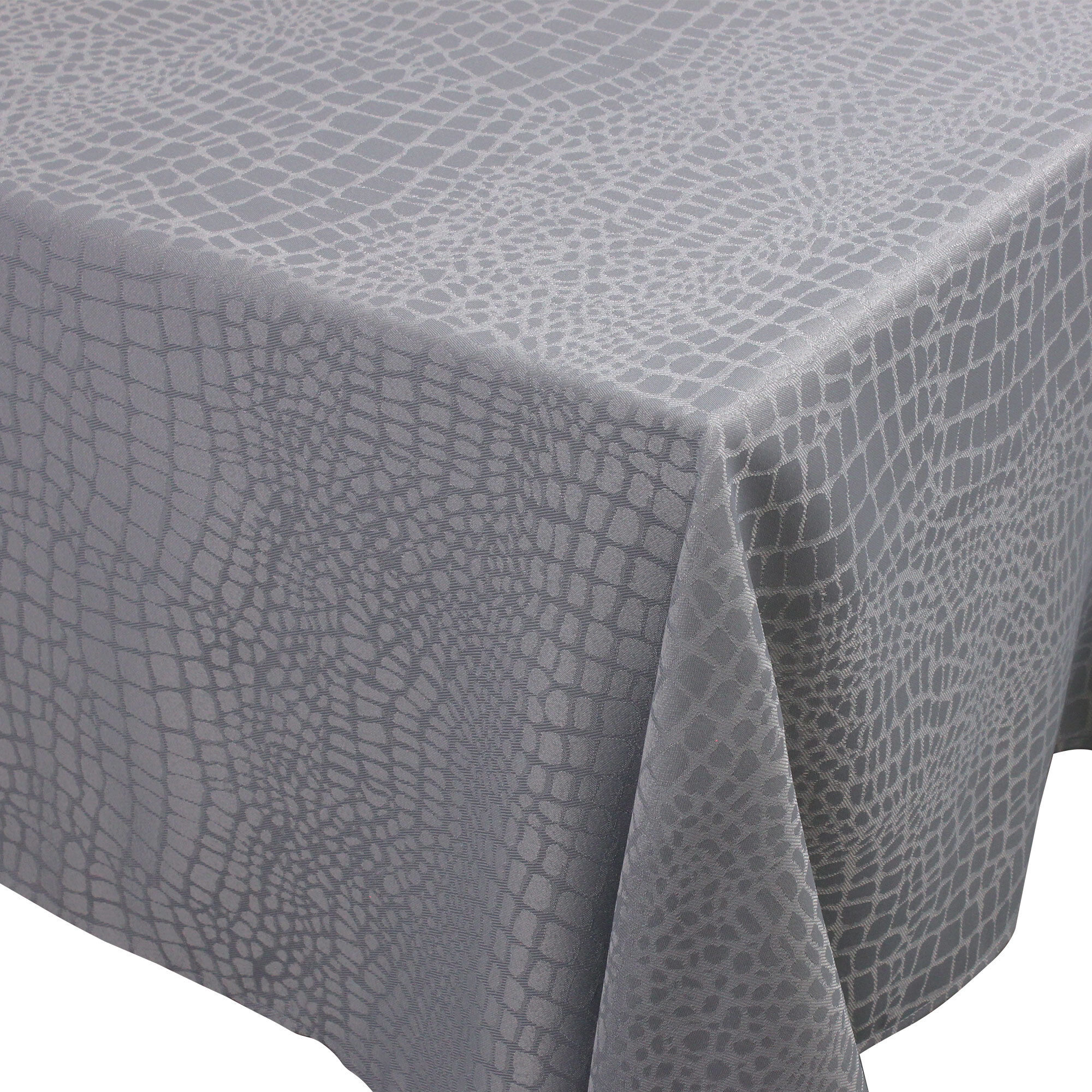 Nappe rectangle 150x250 cm Jacquard 100% polyester LOUNGE perle