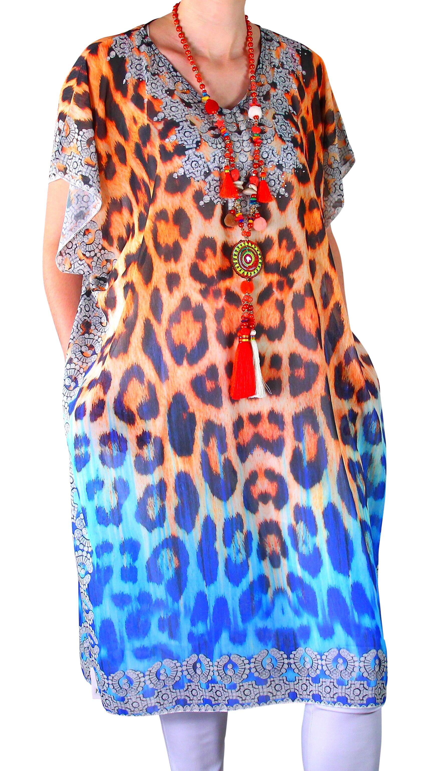 design intemporel 774a9 bc1f4 Robe de plage grande taille CALVI orange