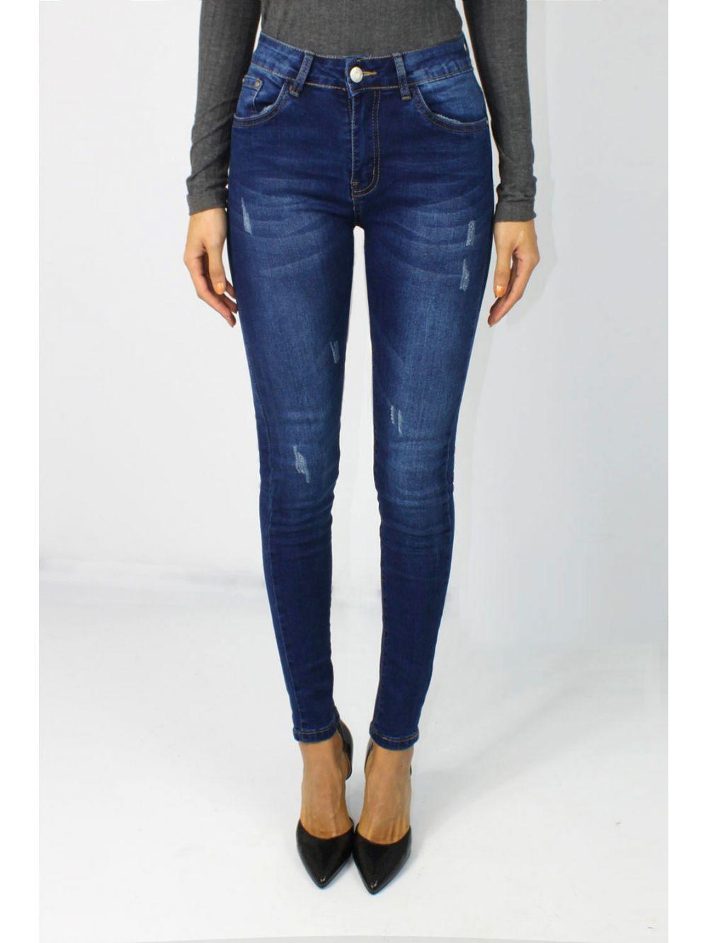 Jeans Slim délavage moyen