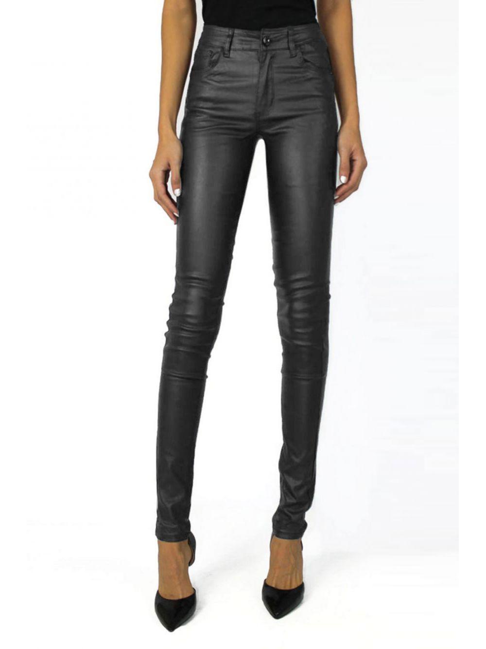 Jeans Simili cuir Push Up