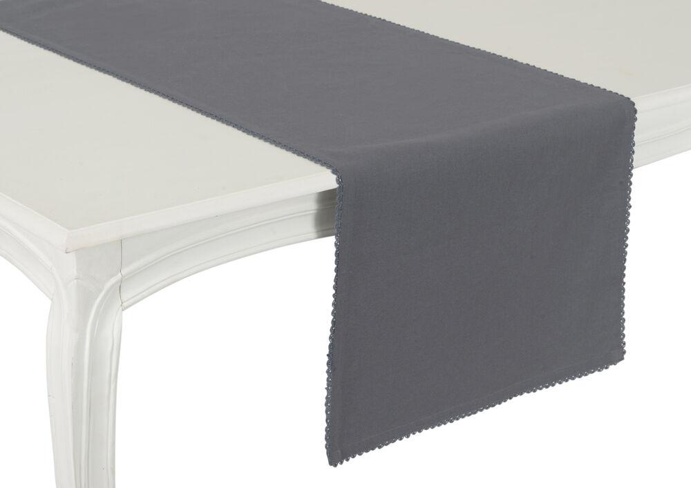 Chemin de table anthracite capucine amadeus - Chemin de table gris anthracite ...