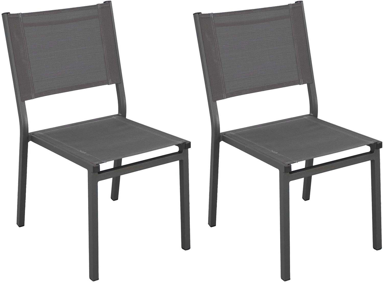Chaises de jardin en aluminium Sinawa (Lot de 2)