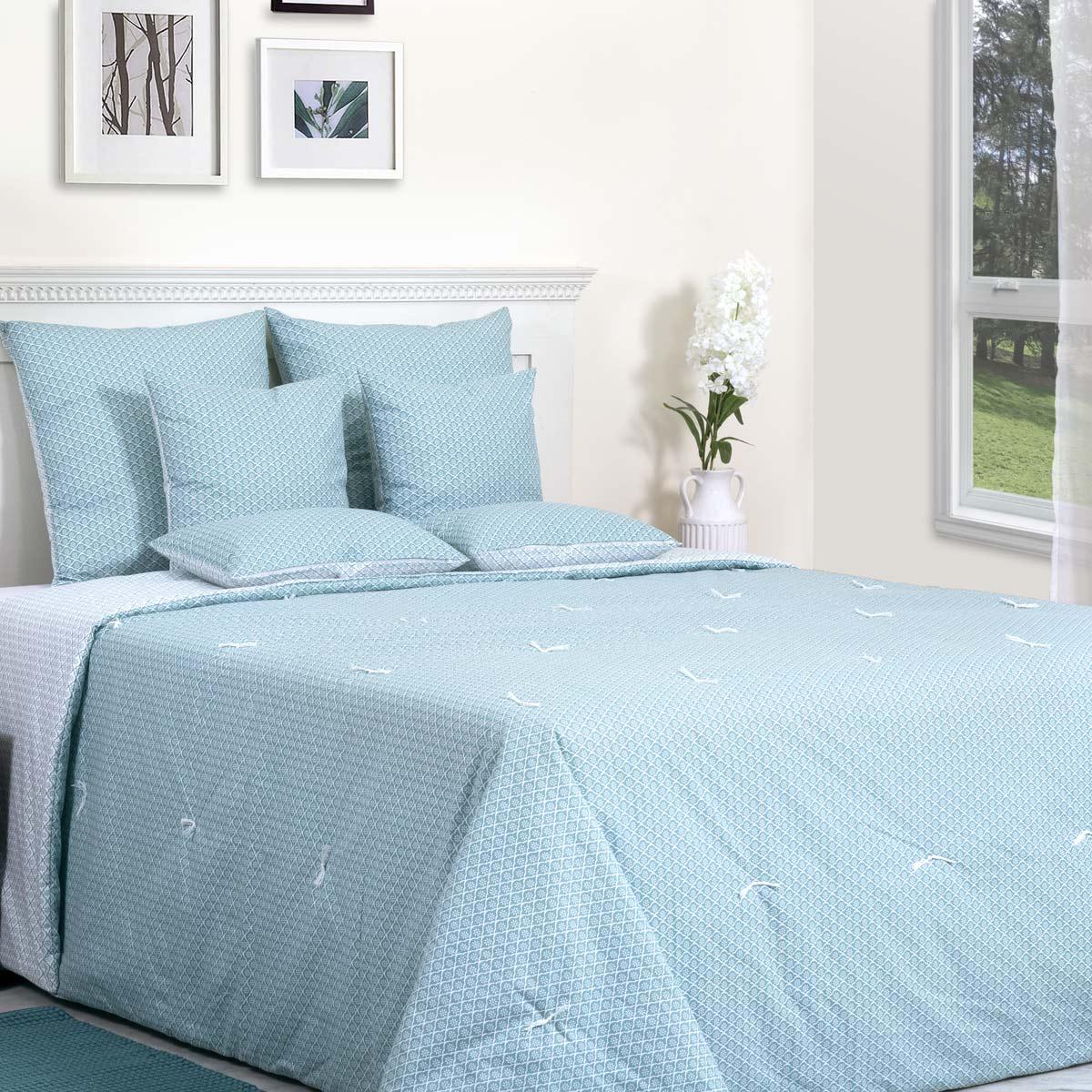 couvre lit coton imprim svea sensei la maison du coton. Black Bedroom Furniture Sets. Home Design Ideas