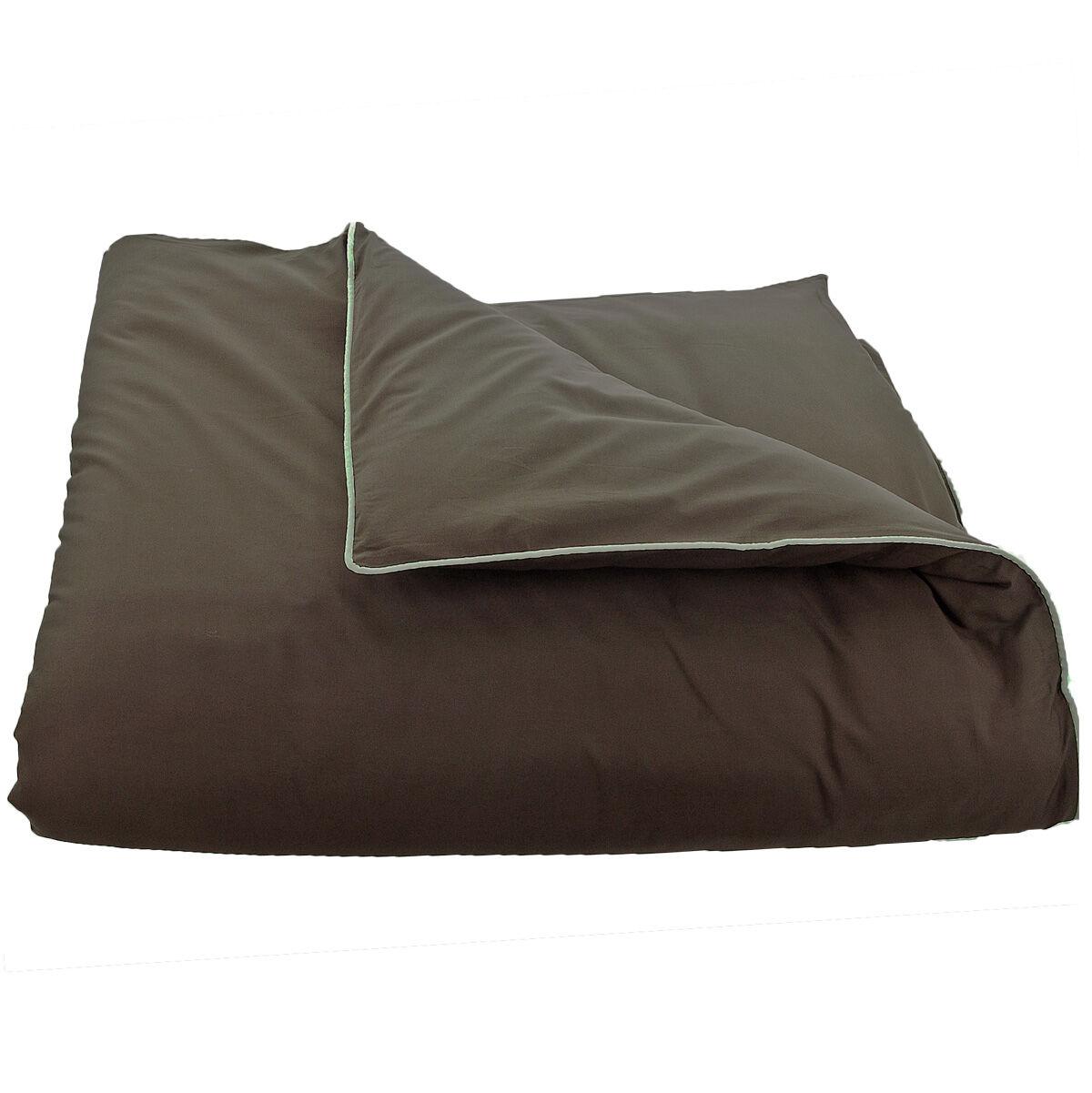 housse de couette percale sensei 80 fils passepoil. Black Bedroom Furniture Sets. Home Design Ideas