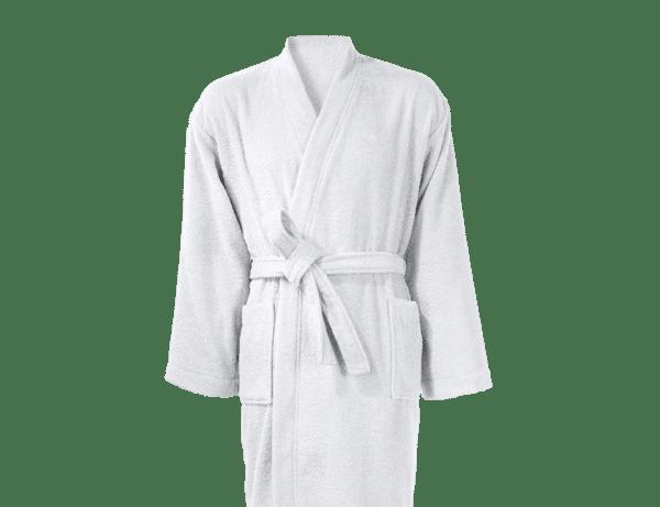 Peignoir 100% coton 380 g/m² City Blanc