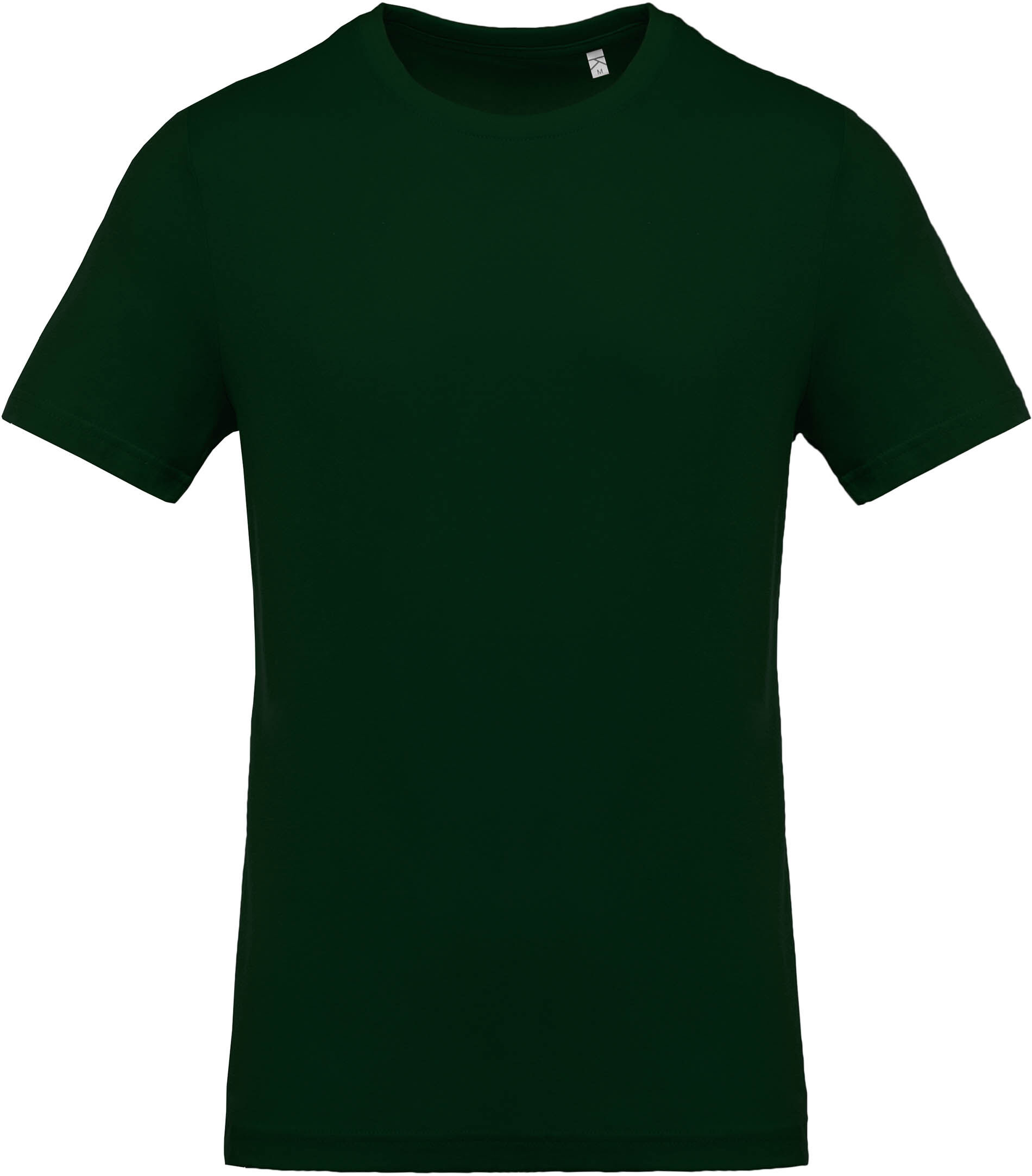 T shirt manches courtes col rond forest green kariban for Green mens t shirt