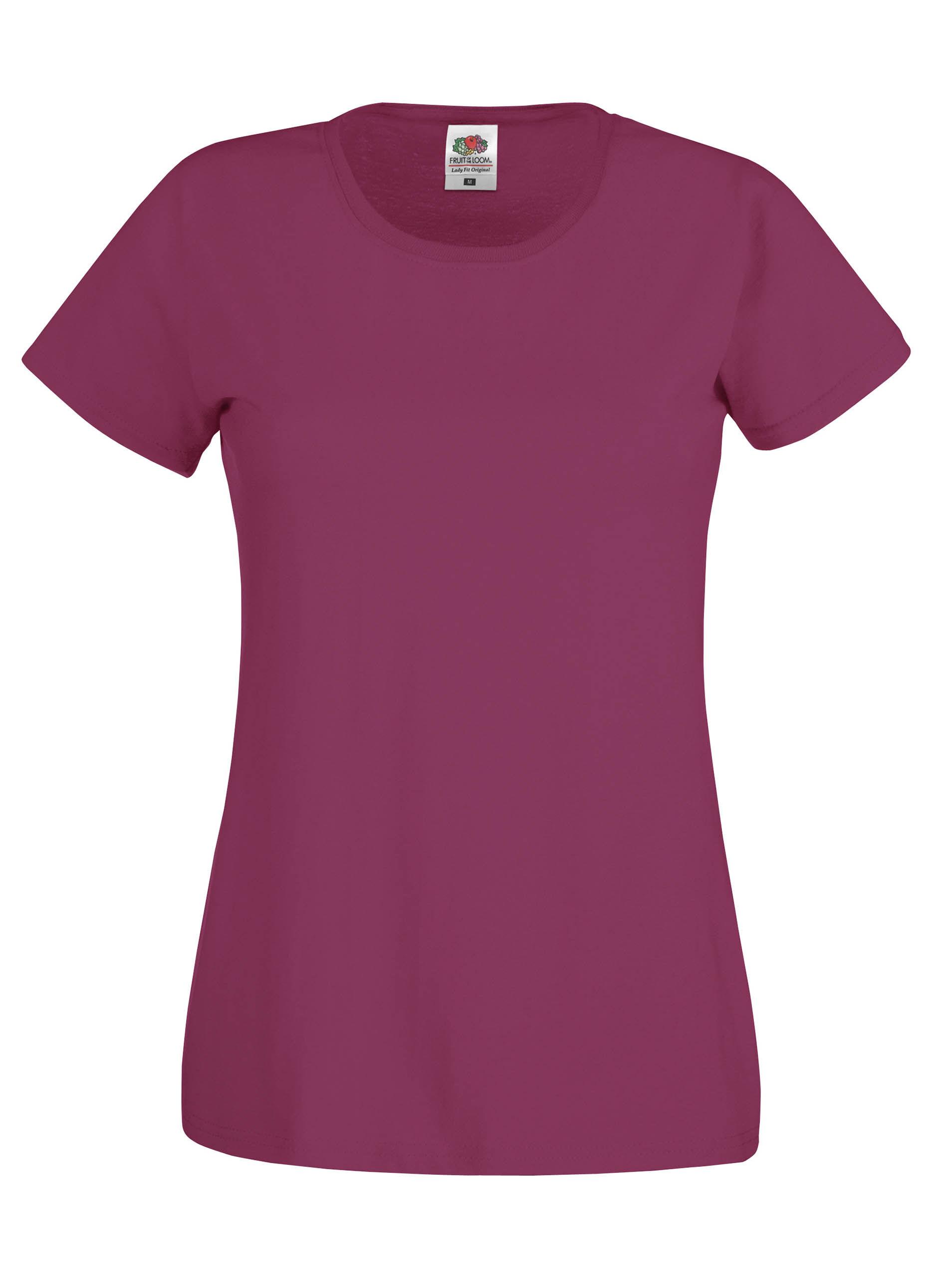 factory price cheapest official T-shirt Femme Original-T (Full Cut 61-420-0) Burgundy
