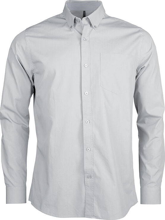 CHEMISE POPELINE LAVÉE MANCHES LONGUES White