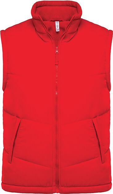 Bodywarmer doublé polaire Red