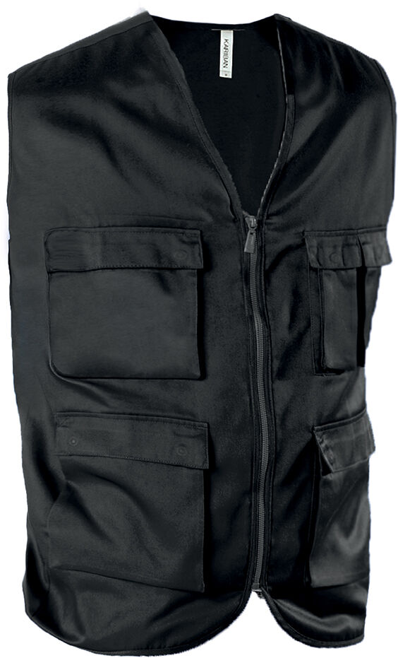 GILET MULTIPOCHES NON DOUBLÉ Black
