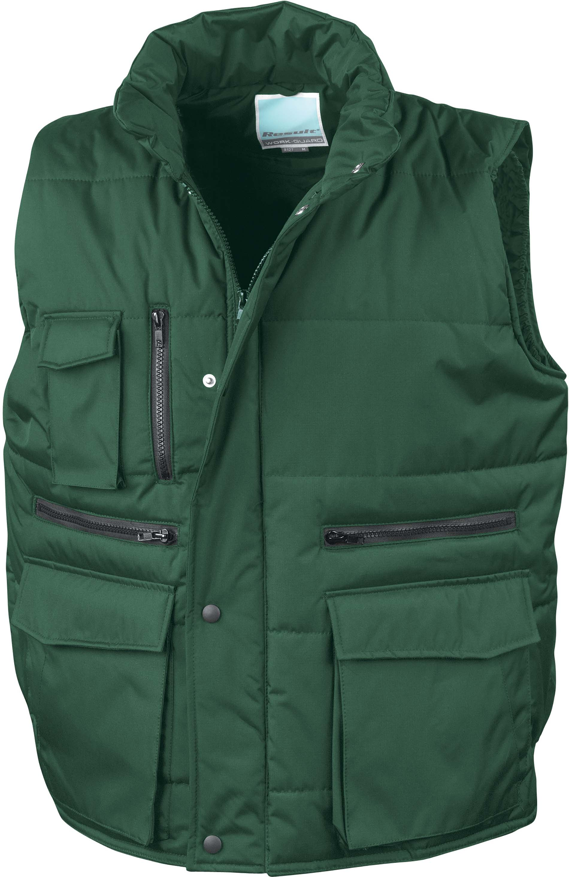 Gilet sans manche multipoches Forest Green