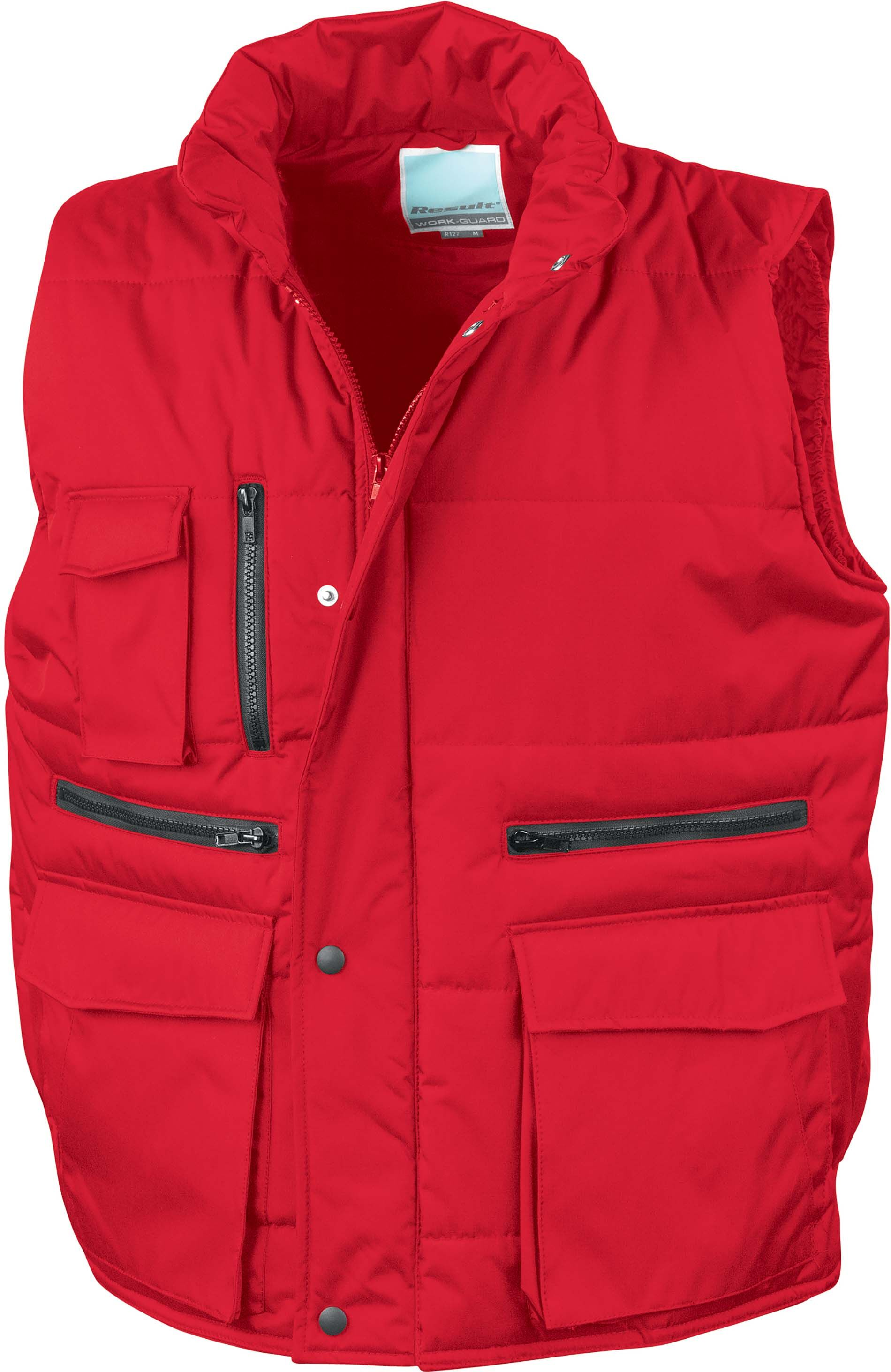 Gilet sans manche multipoches Red