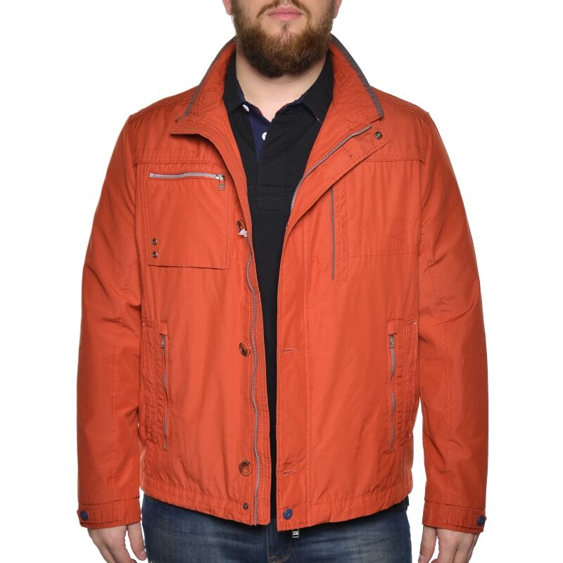 Blouson orange brique