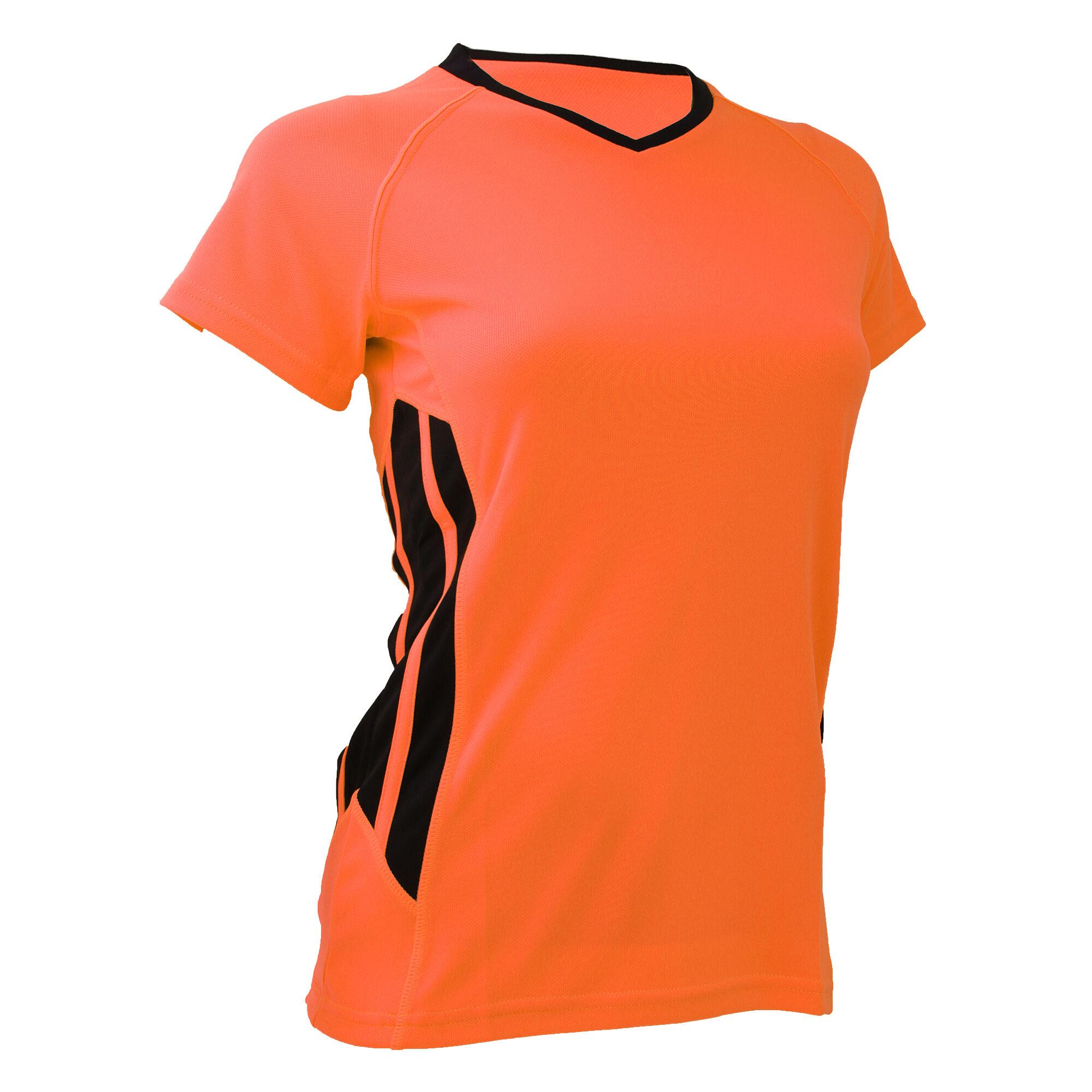 e77c12f39b2f Gamegear Cooltex - T-Shirt Sport À Manches Courtes - Femme (Orange fluo .  Fermer. Fermer Votre produit ...