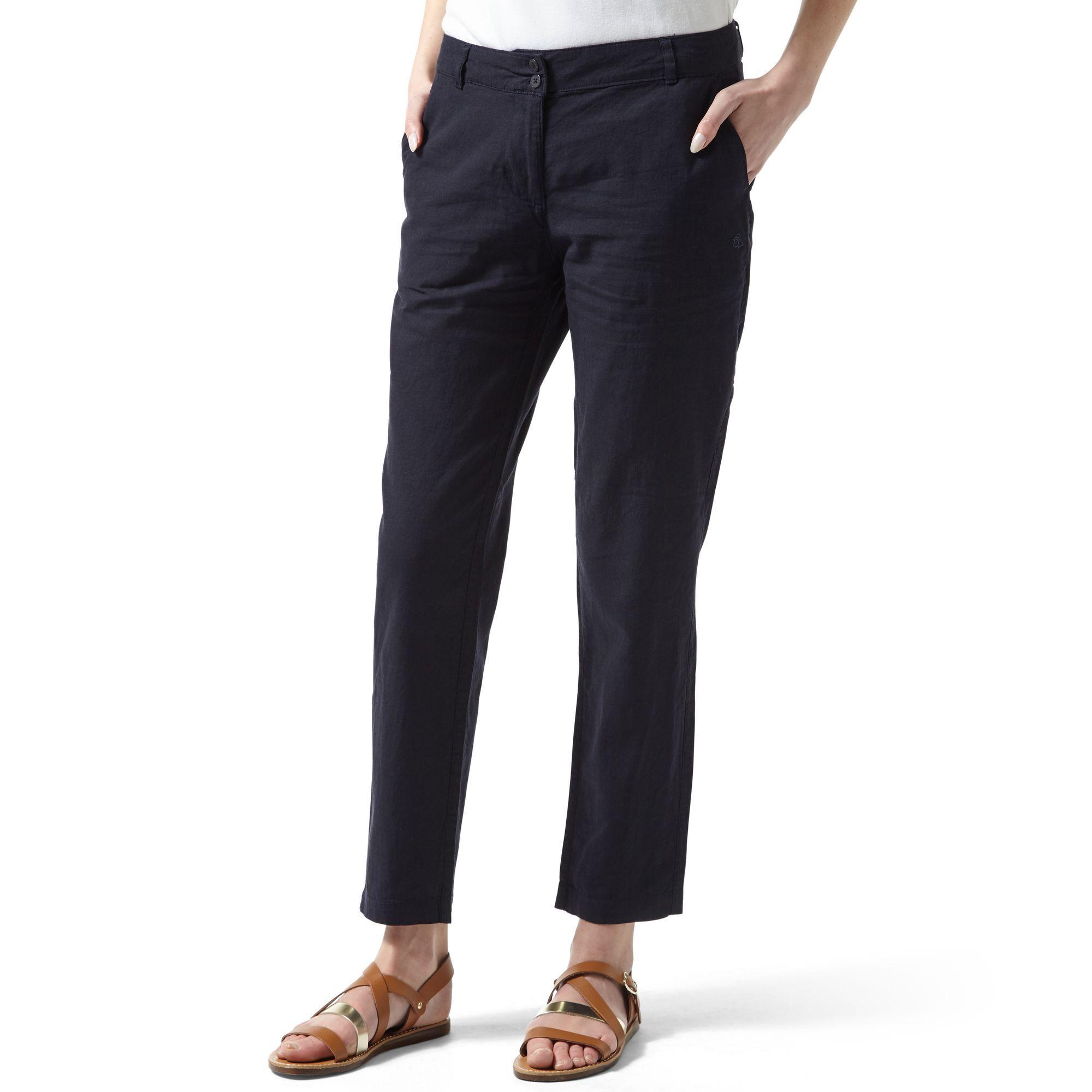 Craghoppers Odette - Pantalon Classique - Femme (Bleu marine foncé) - UTCG528