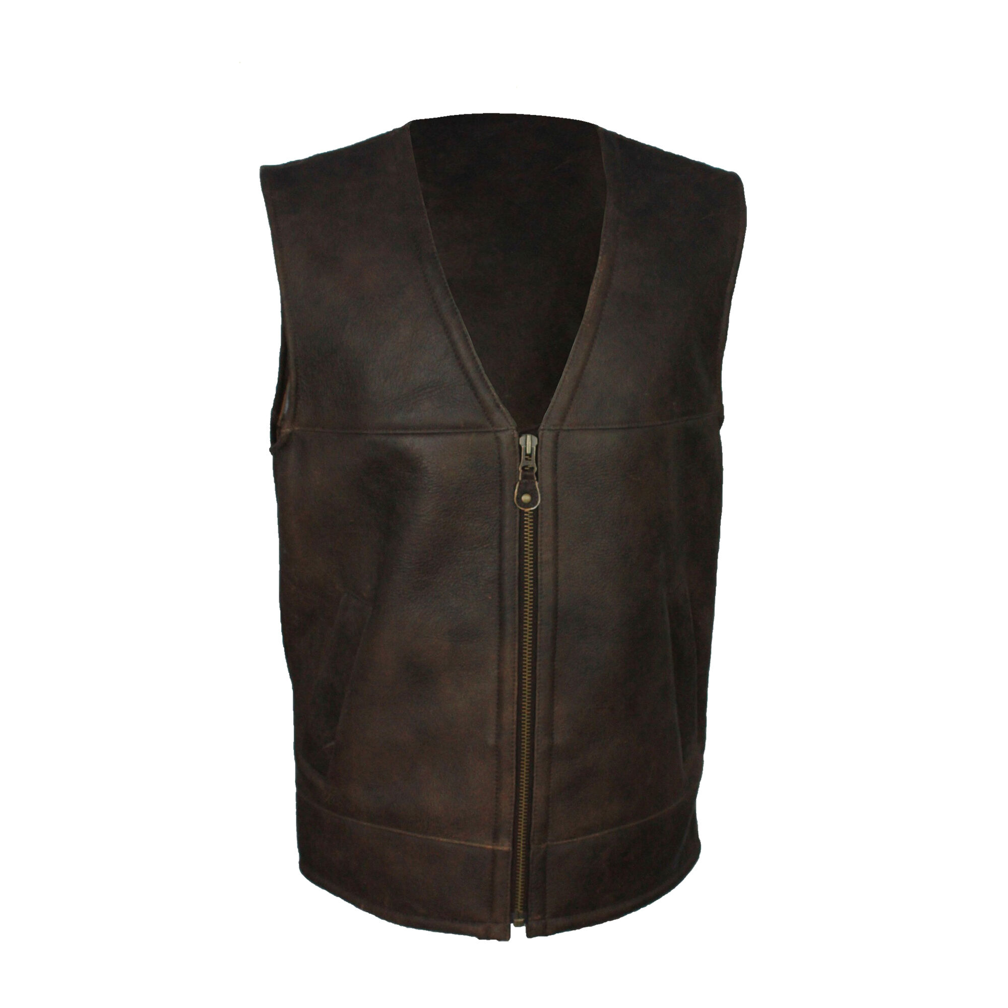 Eastern Counties Leather - Gilet Sans Manches En Cuir - Homme (Marron chocolat) - UTEL176