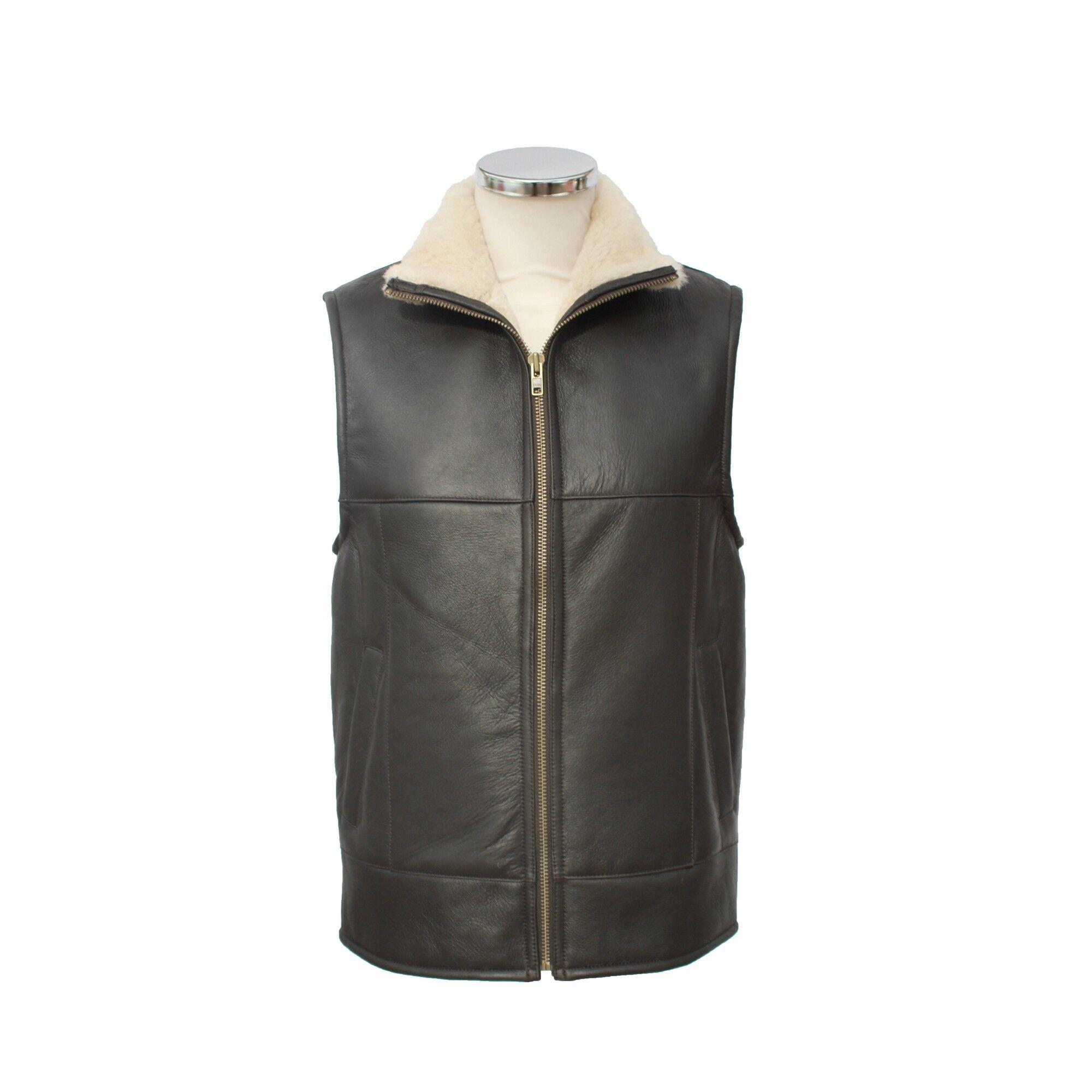 Eastern Counties Leather - Gilet Sans Manches Harvey - Homme (Marron foncé) - UTEL188