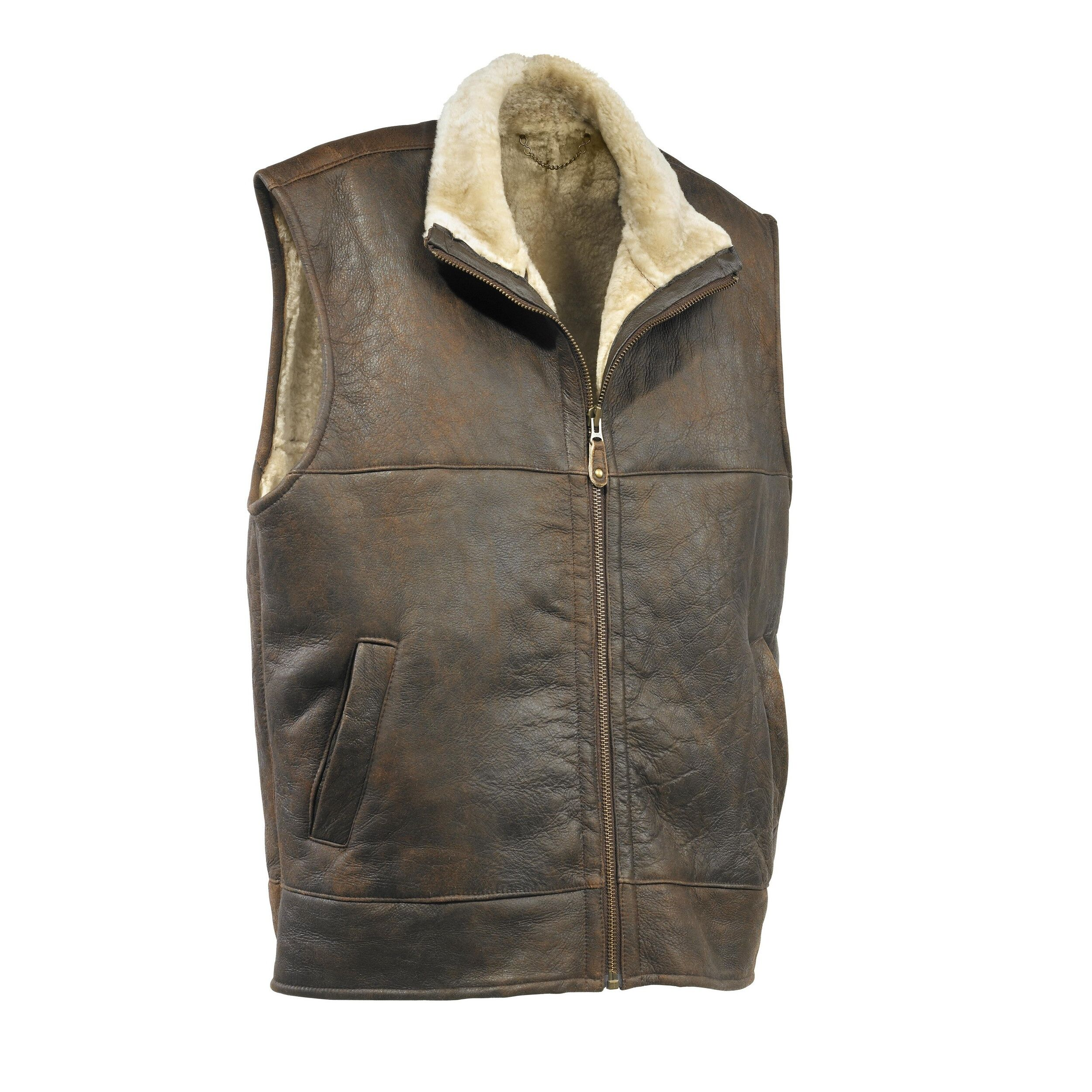 Eastern Counties Leather - Gilet Sans Manches Harvey - Homme (Marron chocolat) - UTEL188
