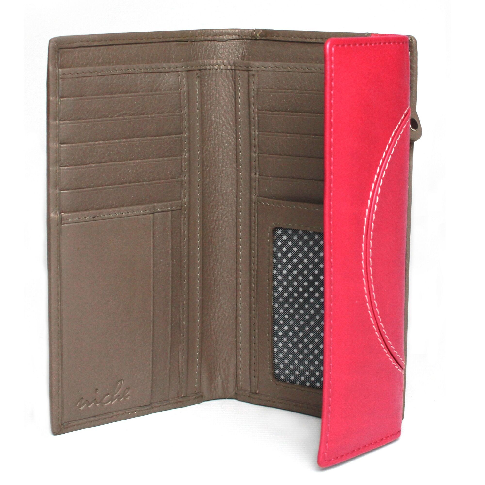 Eastern Counties Leather - Portefeuille Layla - Femme (Corail/ Taupe) - UTEL218
