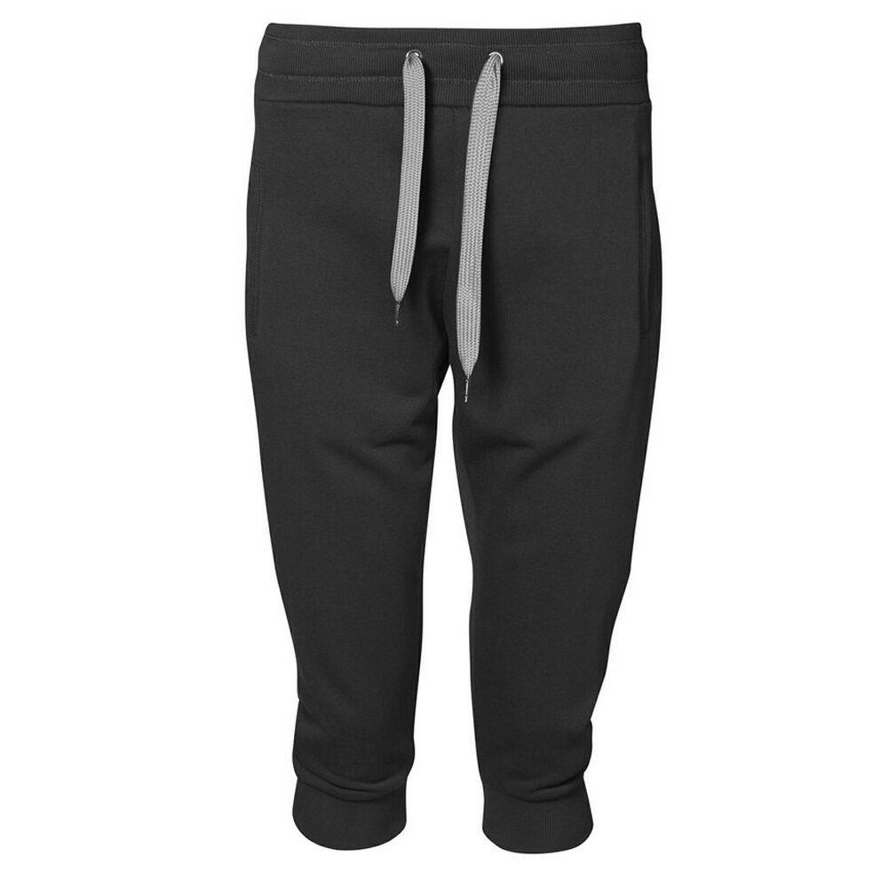 Id Capri - Short Style Jogging (Coupe Large) - Femme (Noir) - UTID309
