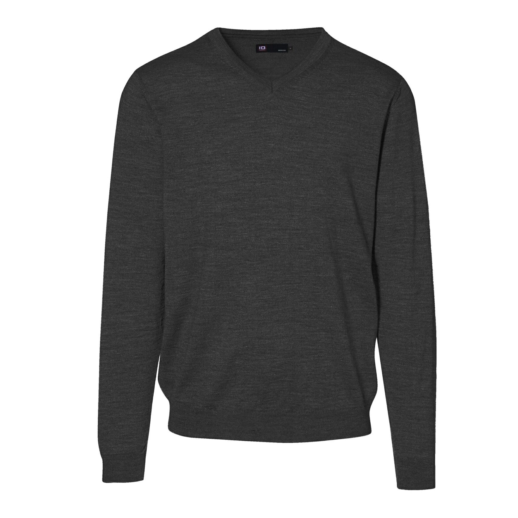 Id - Sweat-Shirt/Pull Col V - Homme (Gris sombre) - UTID392