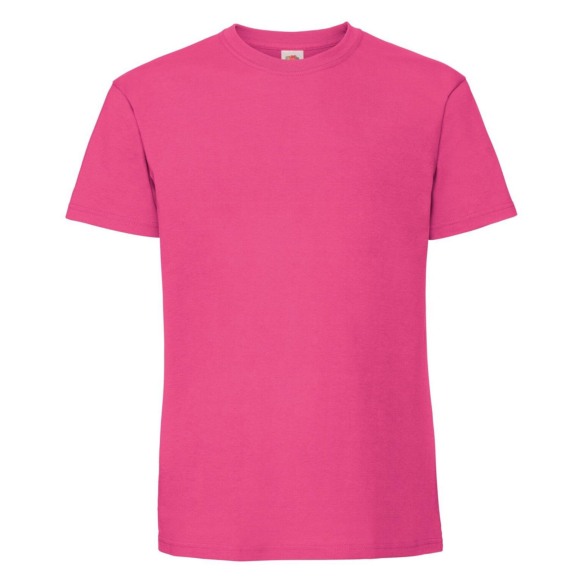 Fruit Of The Loom - T-Shirt Ringspun Premium - Homme (Fuchsia) - UTPC3033