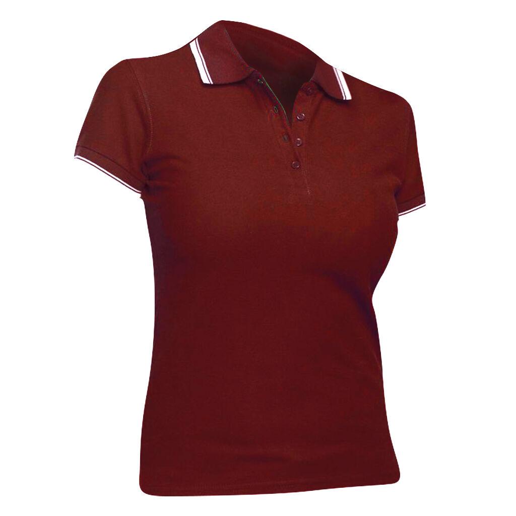 Sols Practice - Polo 100% Coton À Manches Courtes - Femme (Rouge/Blanc) - UTPC322