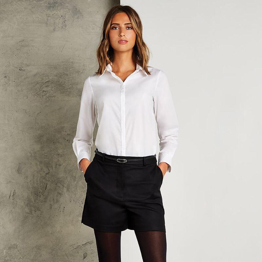 Kustom Kit - Chemisier À Manches Longues - Femme (Blanc) - UTRW3915