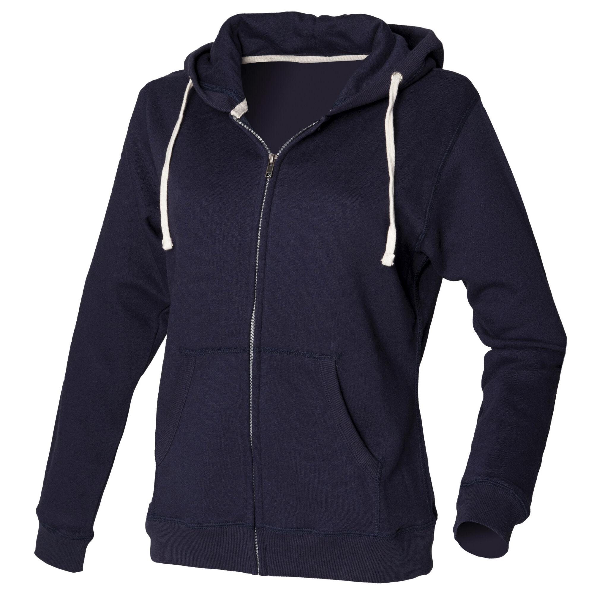 Front Row - Sweatshirt À Capuche Et Fermeture Zippée - Femme (Bleu marine) - UTRW507