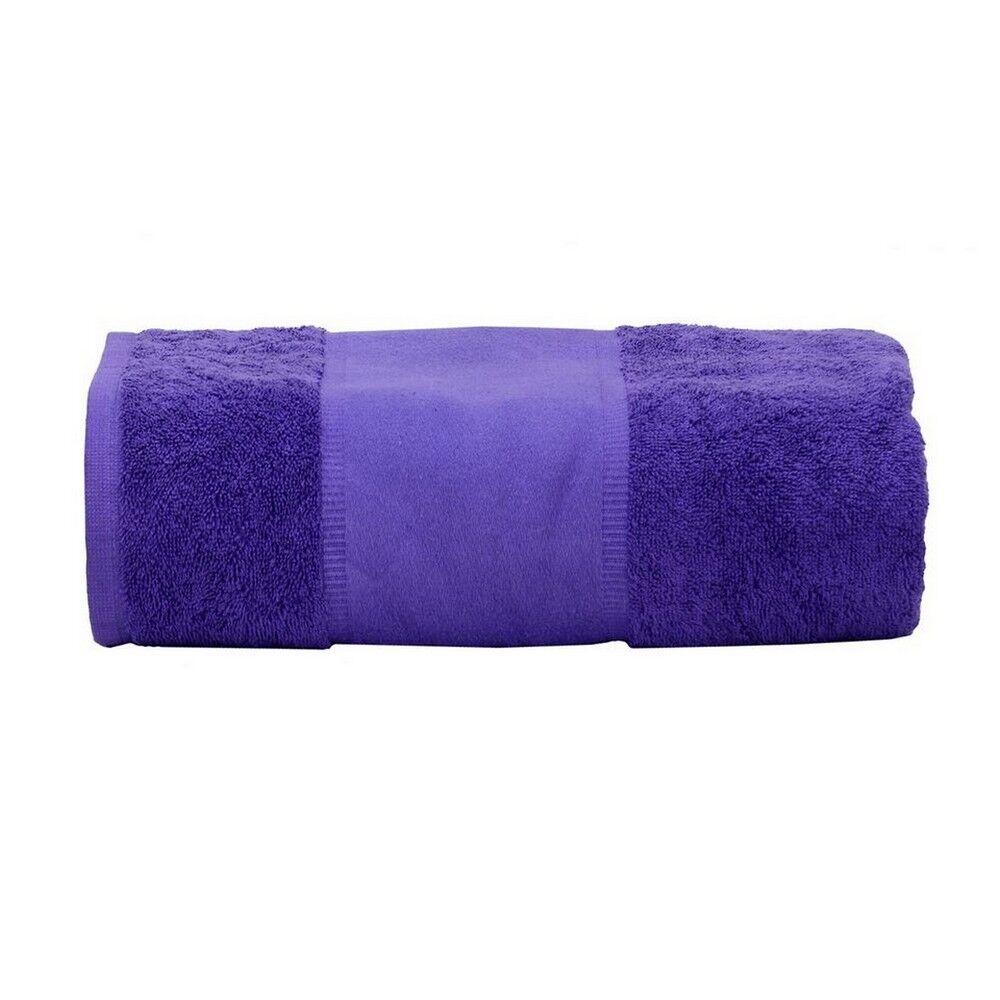 Comment Rouler Les Serviettes De Bain a&r - serviette de bain print-me (violet) - utrw6037