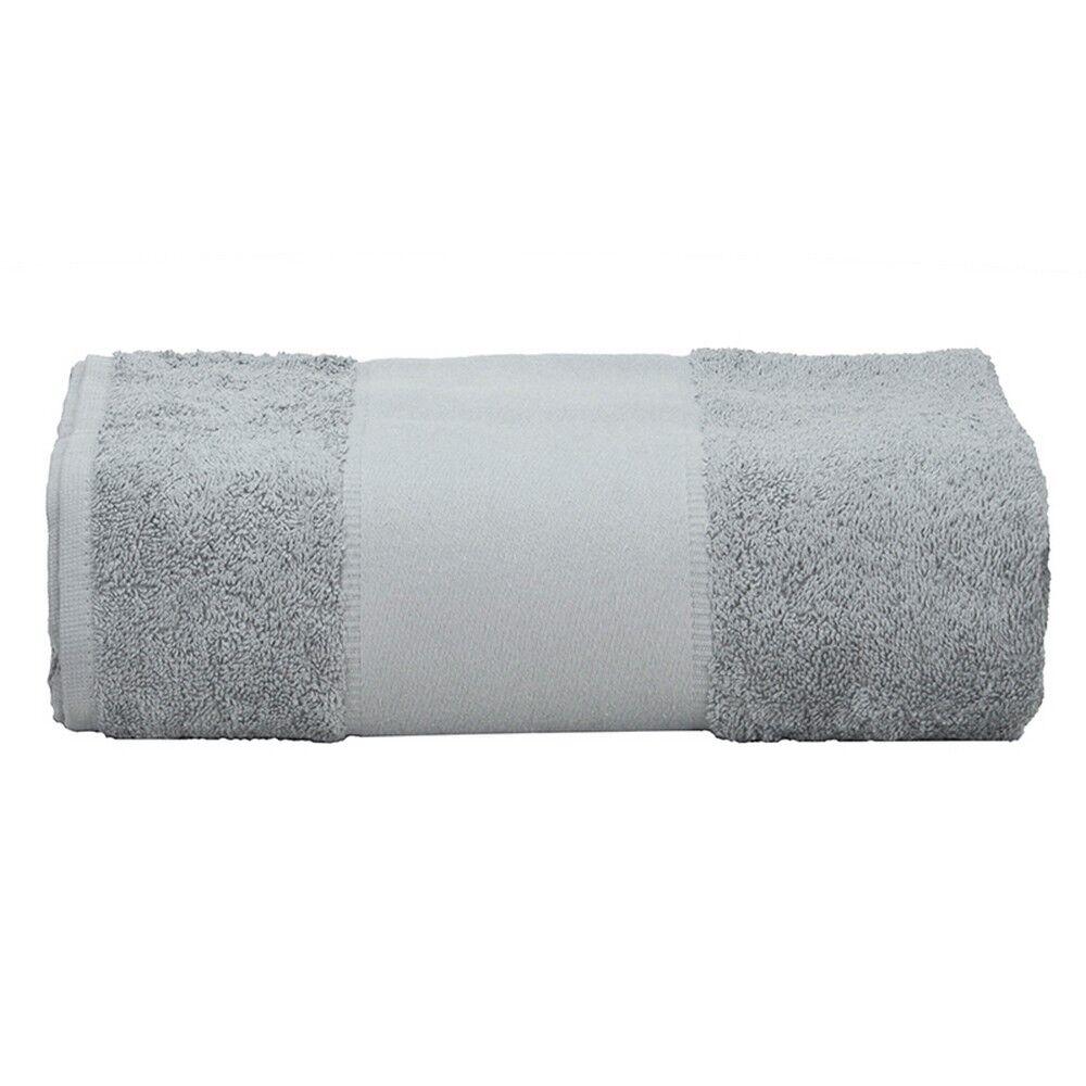 Comment Rouler Les Serviettes De Bain a&r - serviette de bain print-me (gris clair) - utrw6037