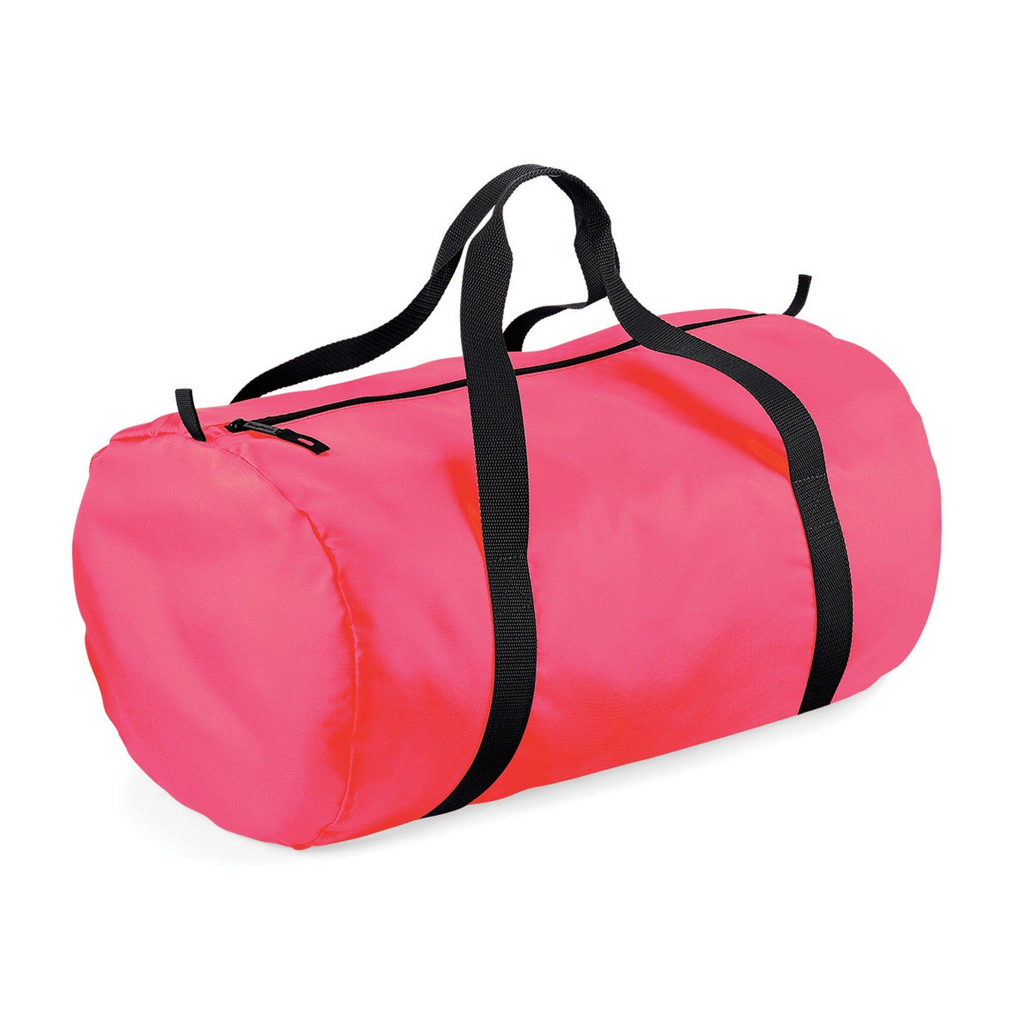Bagbase Packaway - Sac De Voyage (32 Litres) (Lot De 2) (Rose fluo/Noir) - UTRW6915