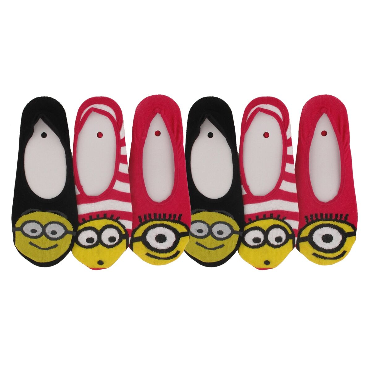 chaussettes invisibles femme les minions lot de 6 les minions. Black Bedroom Furniture Sets. Home Design Ideas