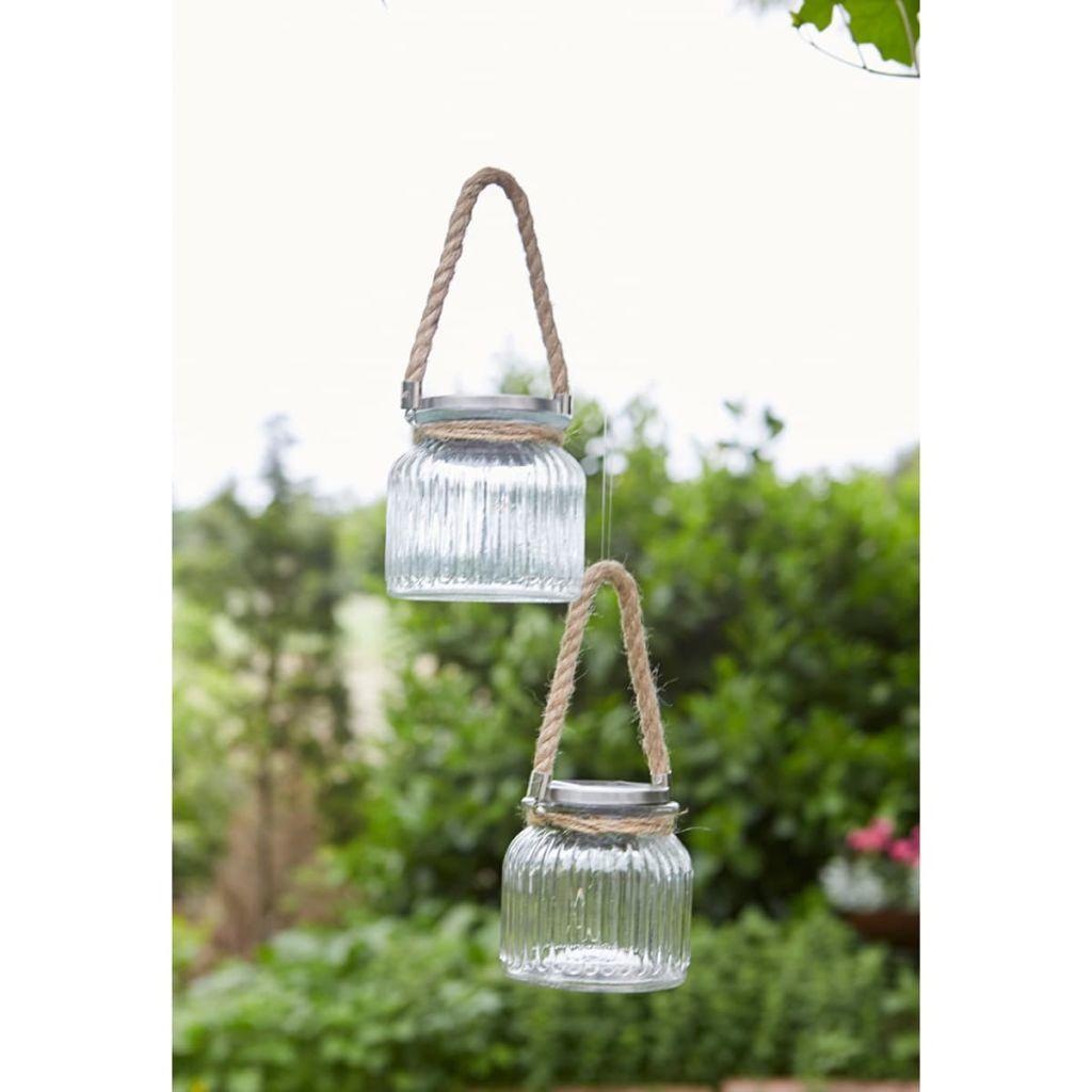 Luxform lampe solaire led sous forme de pot verre transparent luxform for Lampe solaire jardin aulnay sous bois