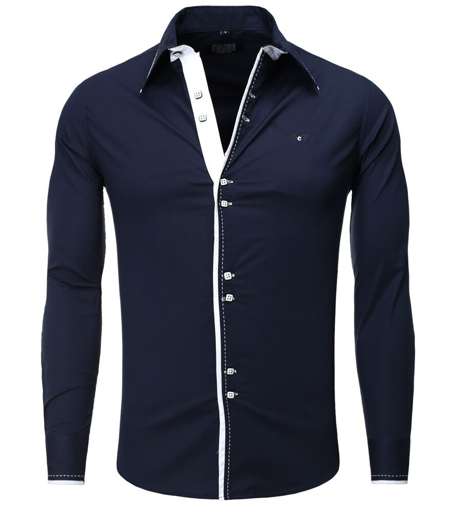 chemise fashion pour homme chemise 8245 bleu marine carisma. Black Bedroom Furniture Sets. Home Design Ideas